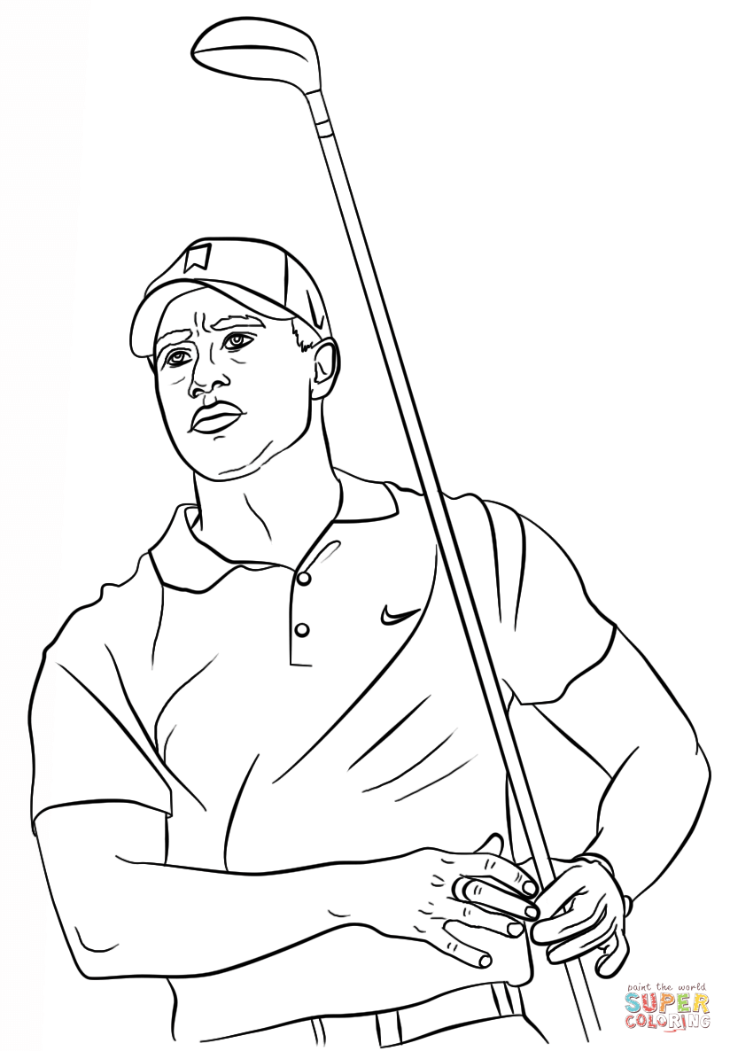 824x1186 Golf Bag Coloring Page