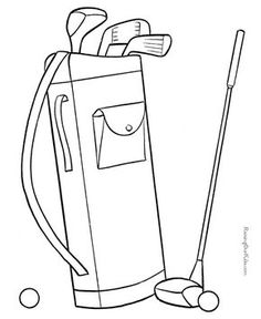 236x288 Make A Hole In One With This Golf Coloring Page Free Coloring