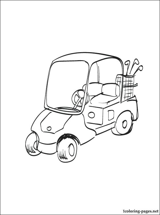560x750 Golf Coloring Page