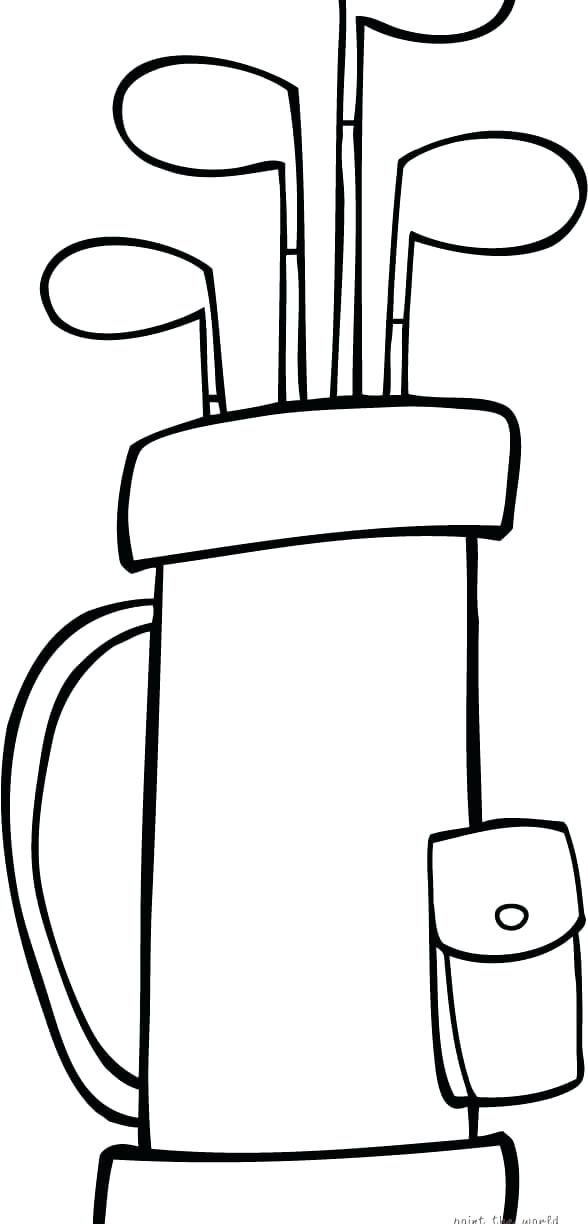 588x1224 Golf Coloring Pages