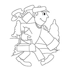Golf Course Coloring Pages