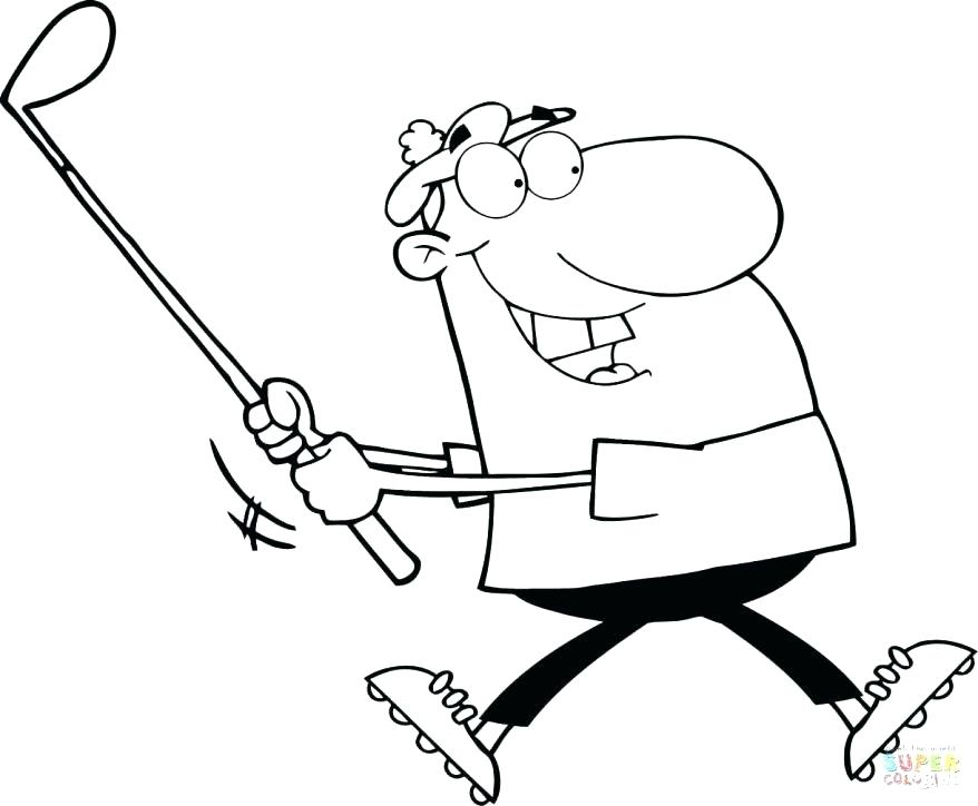 878x724 Golf Coloring Page Er Cartoon Golf Coloring Pages