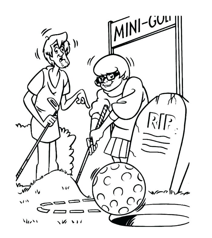 700x787 Golf Coloring Page Golf Course Coloring Pages Page Golf Course