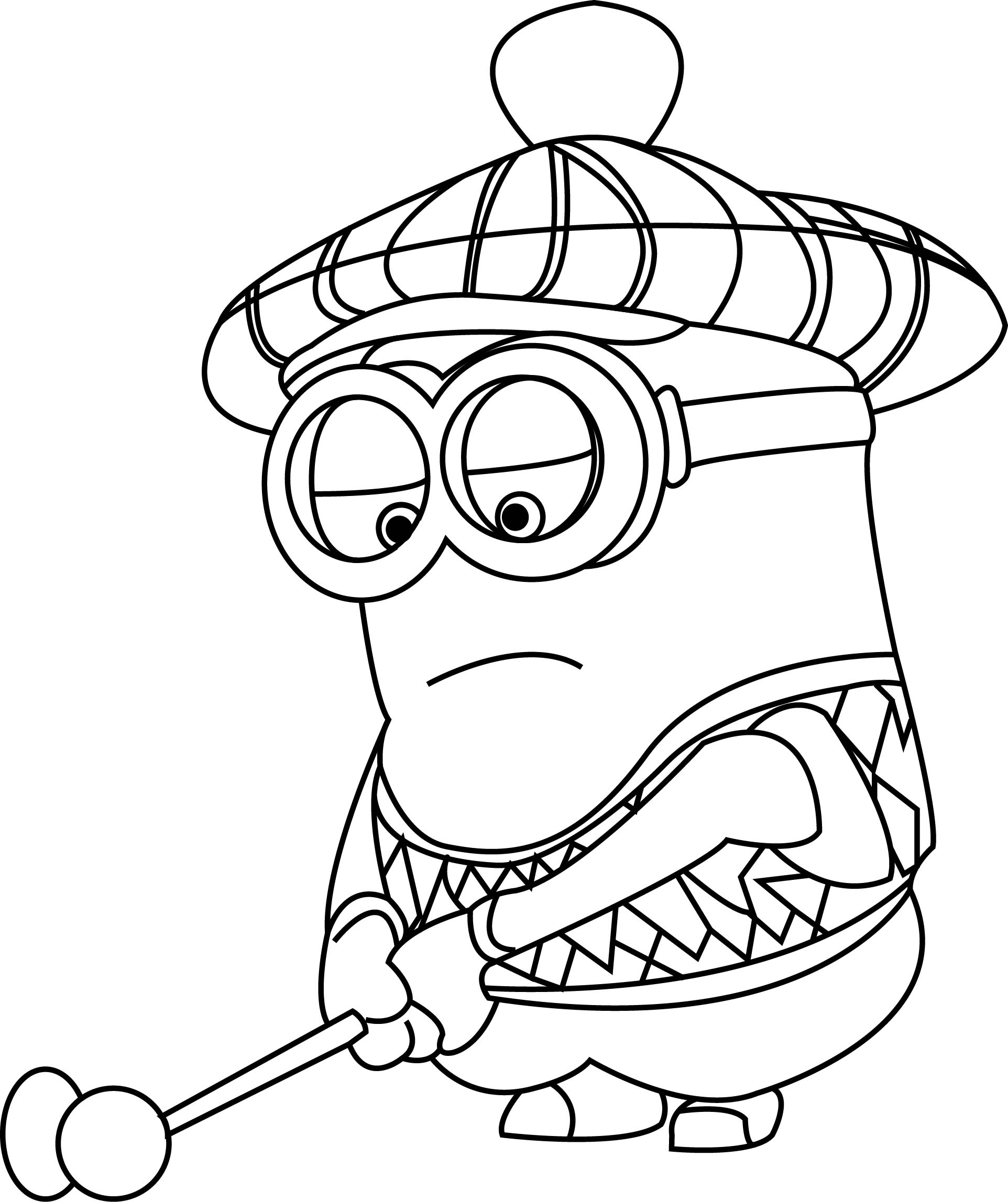 1924x2295 Golf Coloring Pages Awesome Minion Golf Coloring Pages Coloring