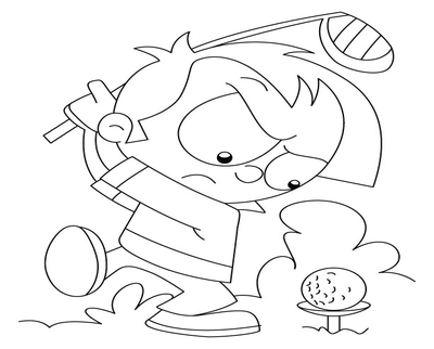 400x322 Golf Coloring Pages Page Image Clipart Images