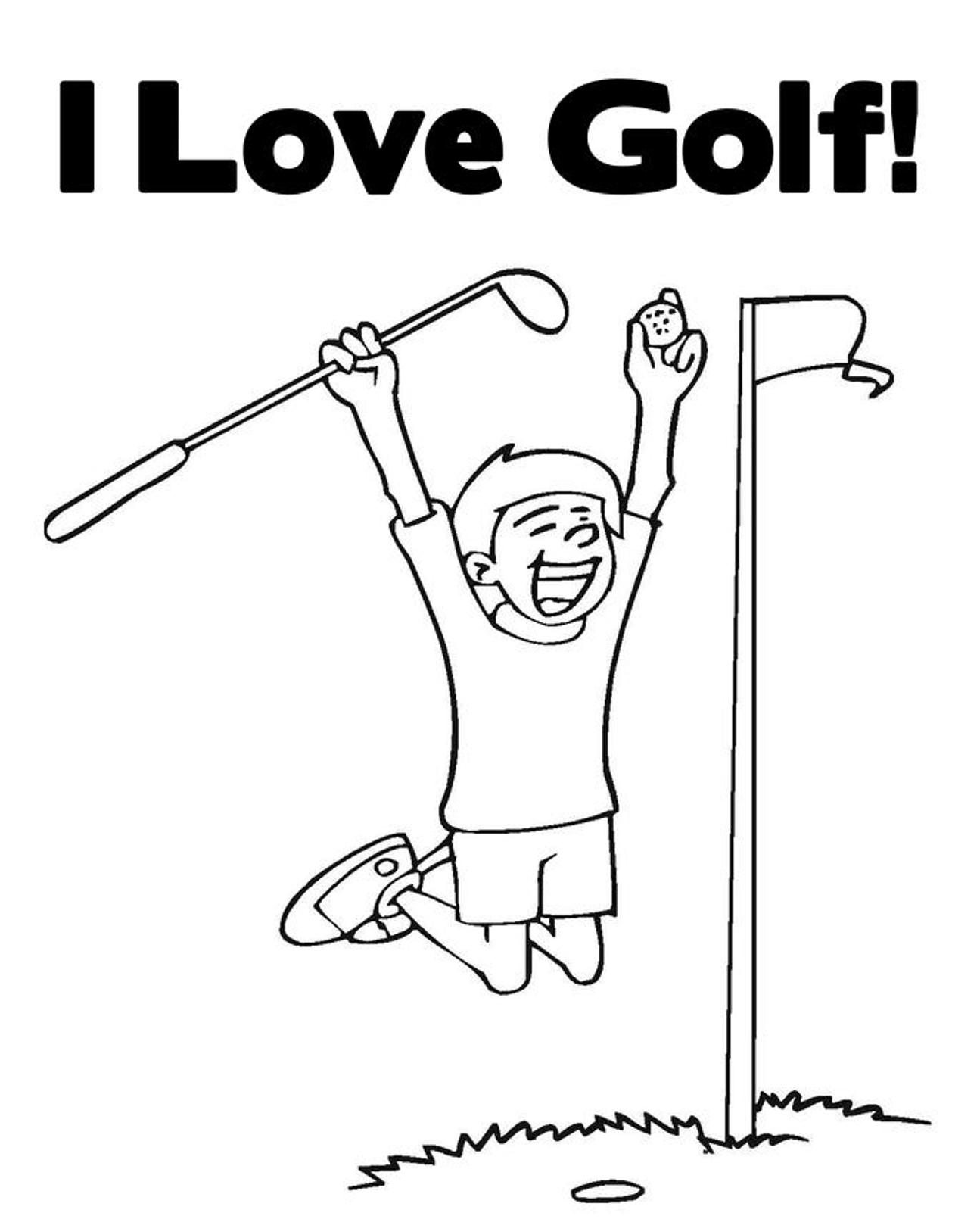 1295x1610 Golf Coloring Page