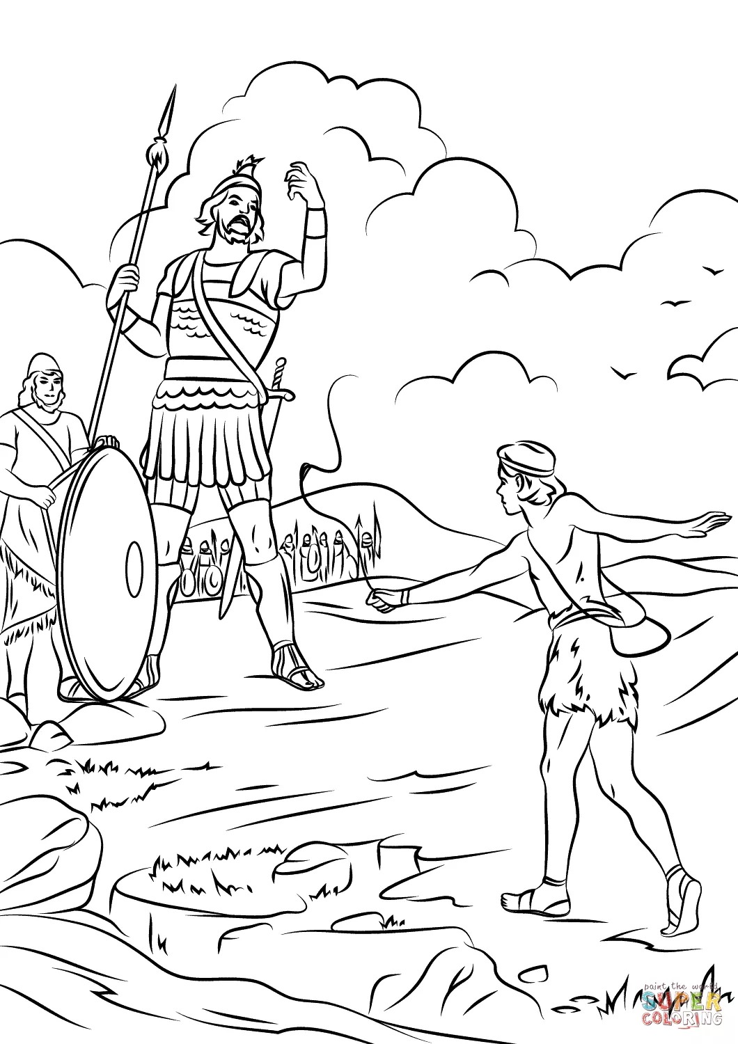 the best free goliath coloring page images from