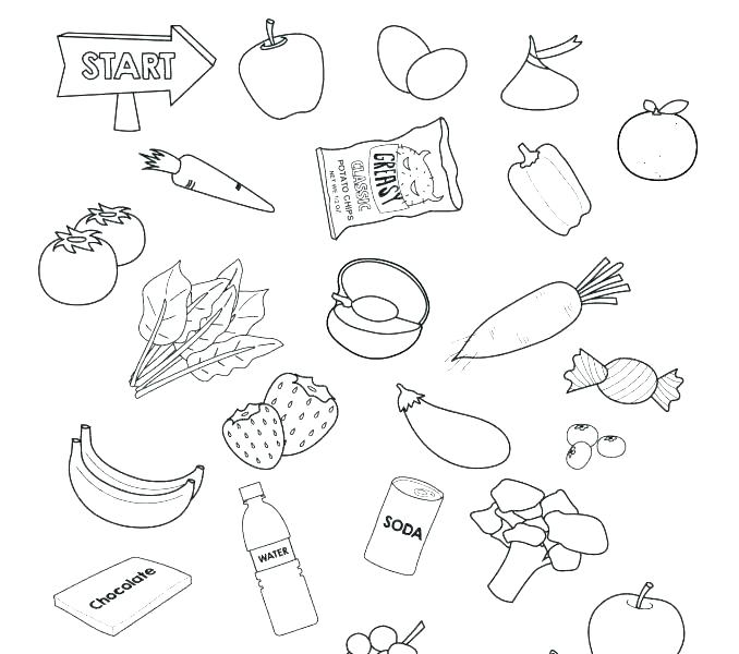678x600 Healthy Eating Coloring Pages Food Coloring Pages Healthy Eating