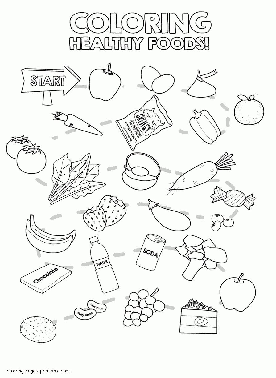 895x1228 Healthy Food Coloring Pages