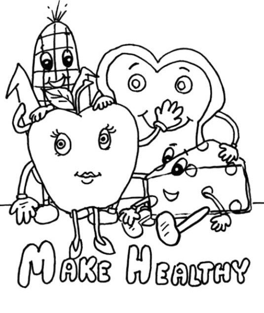535x633 Make Healthy Food Choices Coloring For Kids Healthy Choices