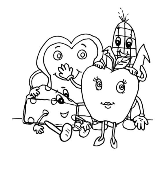 560x604 Make Healthy Food Choices Coloring Page For Kids Kids Coloring