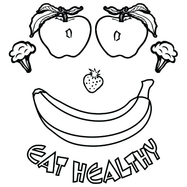 600x600 Coloring Pages Of Healthy Foods Healthy Food Coloring Pages