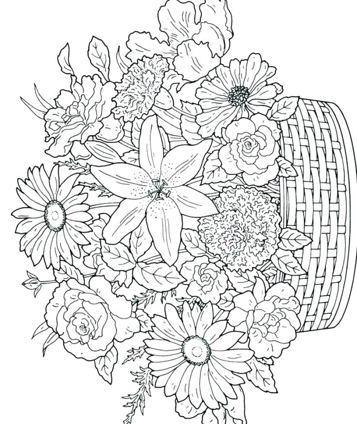 736x875 Hard Halloween Coloring Pages