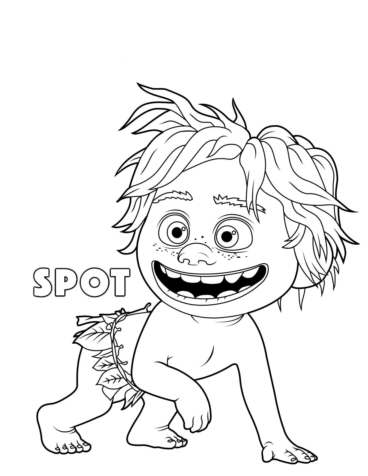 1275x1650 The Good Dinosaur Spot Coloring Pages