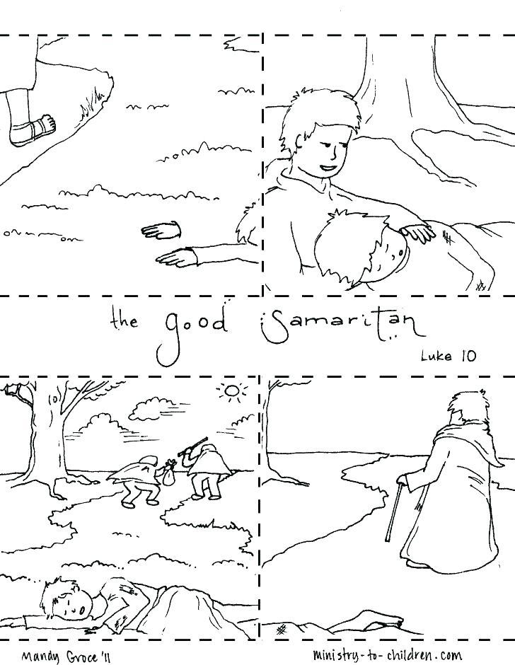 728x940 The Good Samaritan Coloring Page