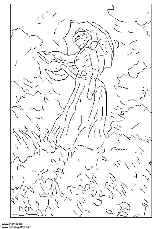 530x750 Claude Monet Coloring Pages Good Coloring Pages Print Page Free