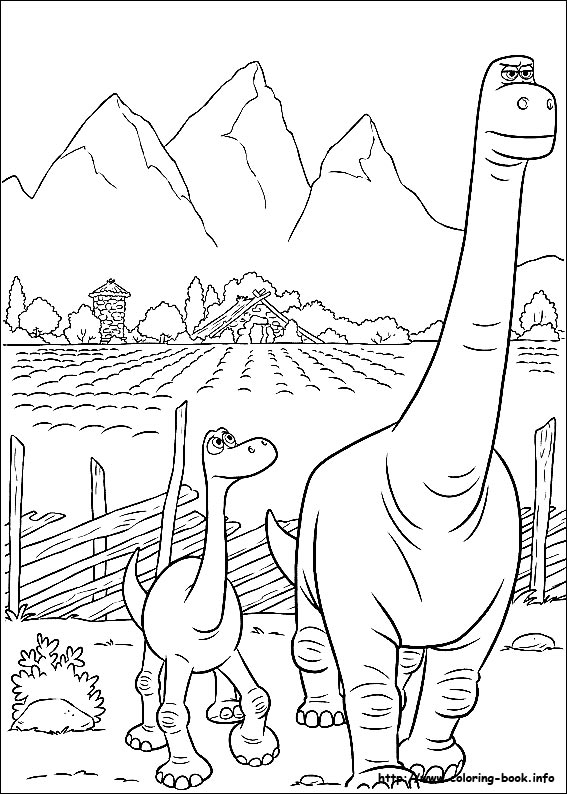 567x794 The Good Dinosaur Coloring Pages Printable