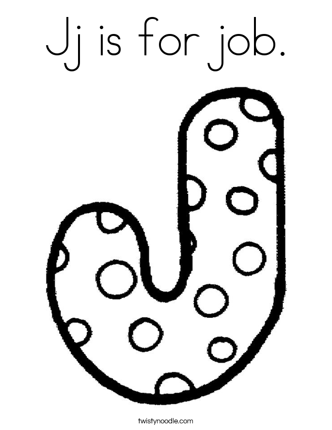685x886 Jj Is For Job Coloring Page