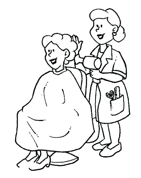 600x757 Job Coloring Pages Job Coloring Pages Hair Stylist On Jobs
