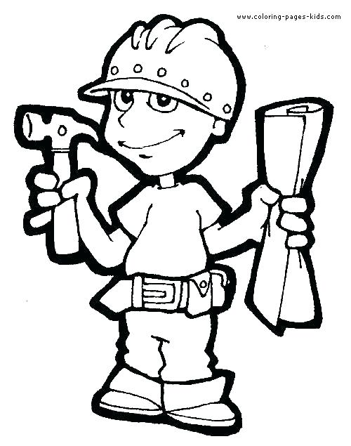500x635 Job Coloring Pages Occupations Coloring Pages Occupations Coloring