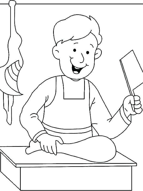 600x800 Occupations Coloring Pages Bread Coloring Pages Jobs Coloring