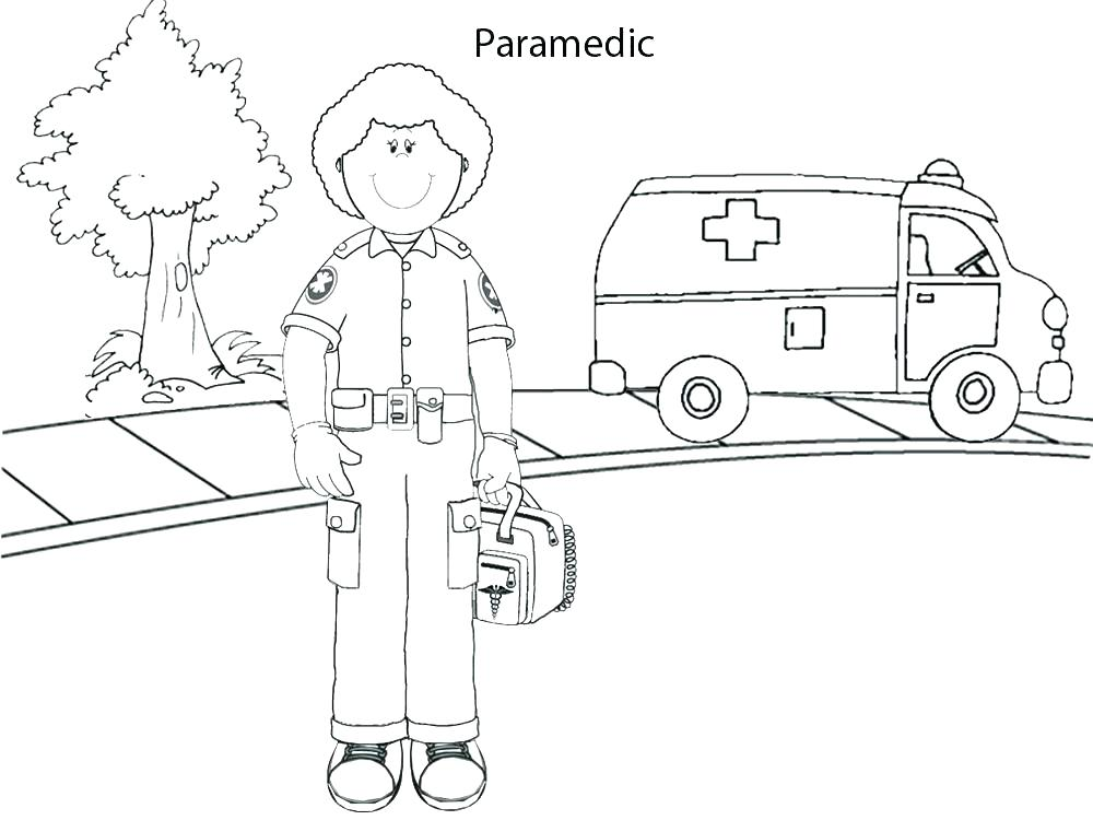 1000x750 Occupations Coloring Pages Paramedic Coloring Pages Occupations