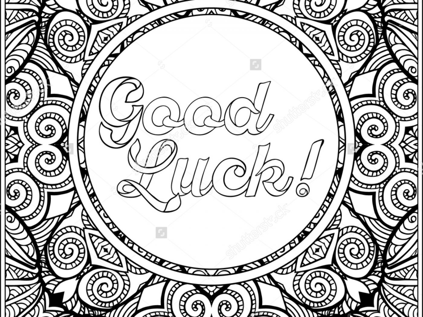 Good Luck Coloring Pages At Getdrawings Free Download