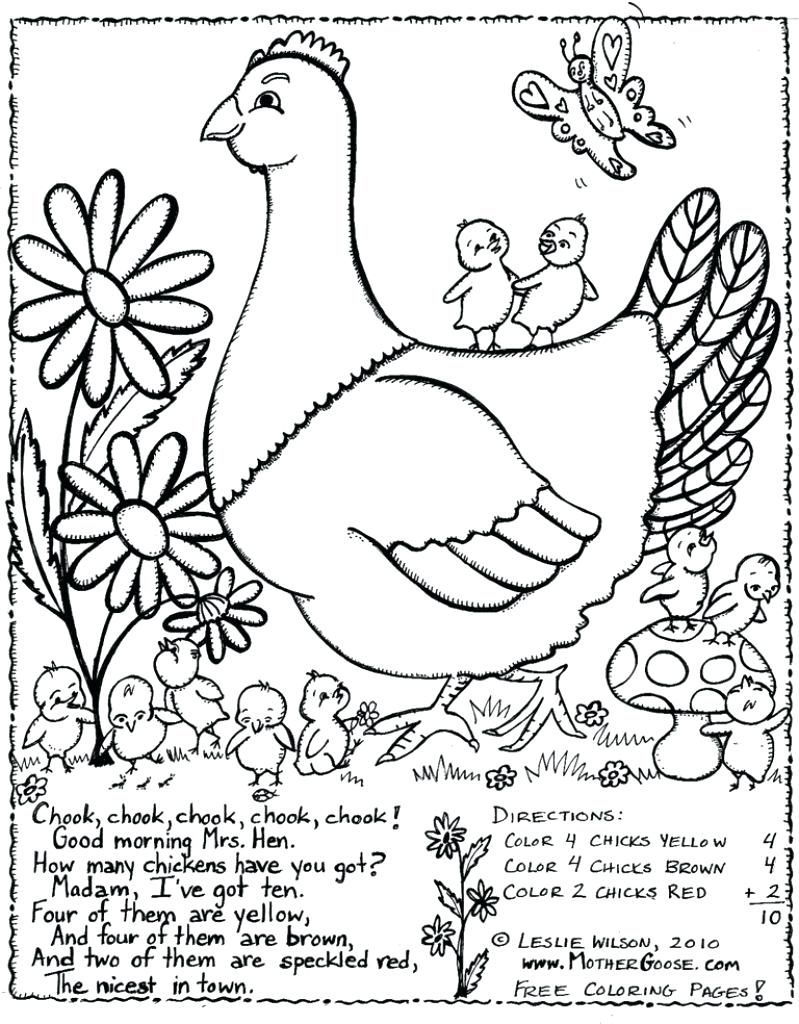 799x1024 Helpful Little Red Hen Coloring Page Pages