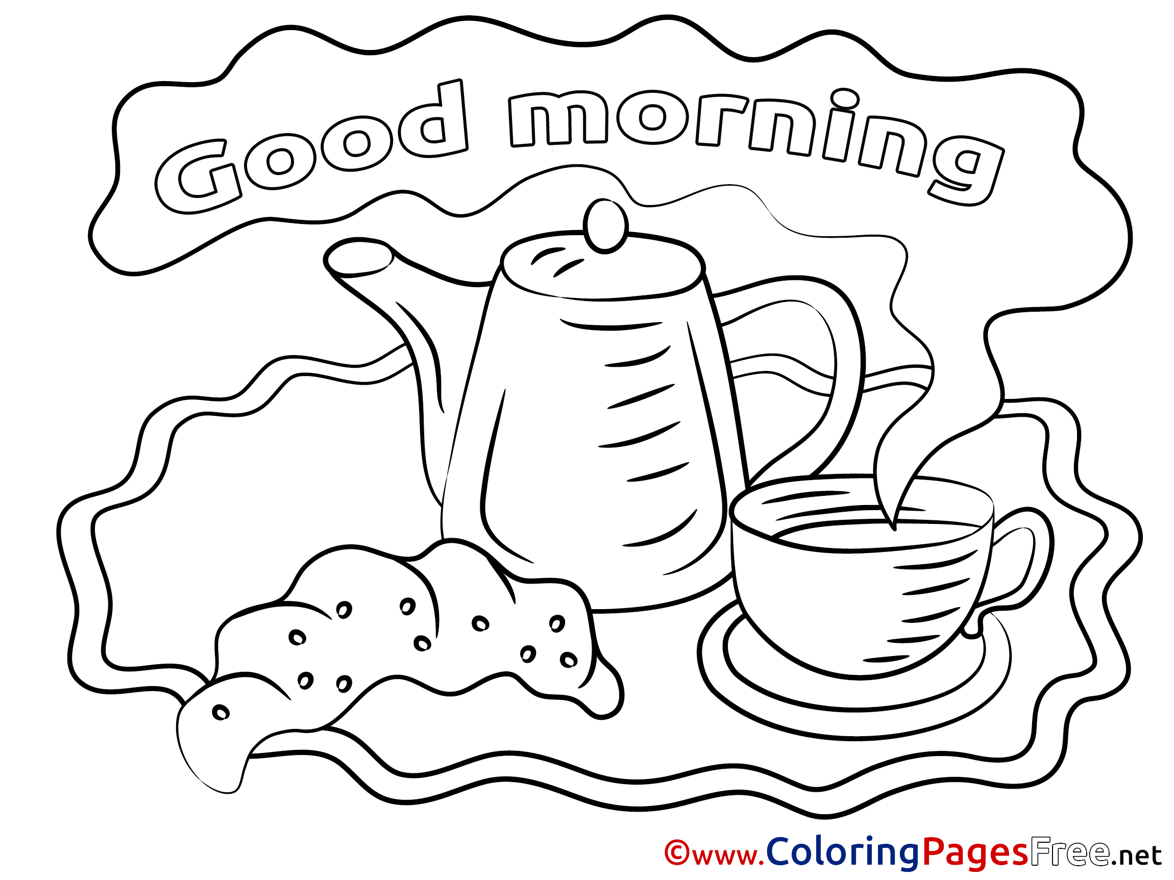 2300x1725 Kettle Coloring Sheets Good Morning Free