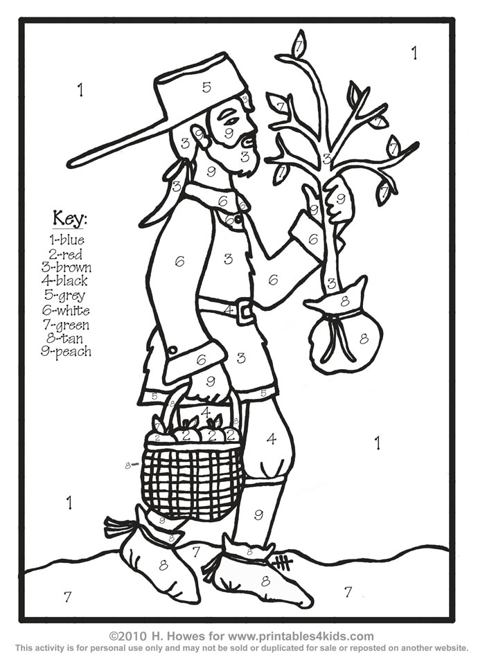 690x969 Ravishing Johnny Appleseed Coloring Page Colouring To Good Johnny