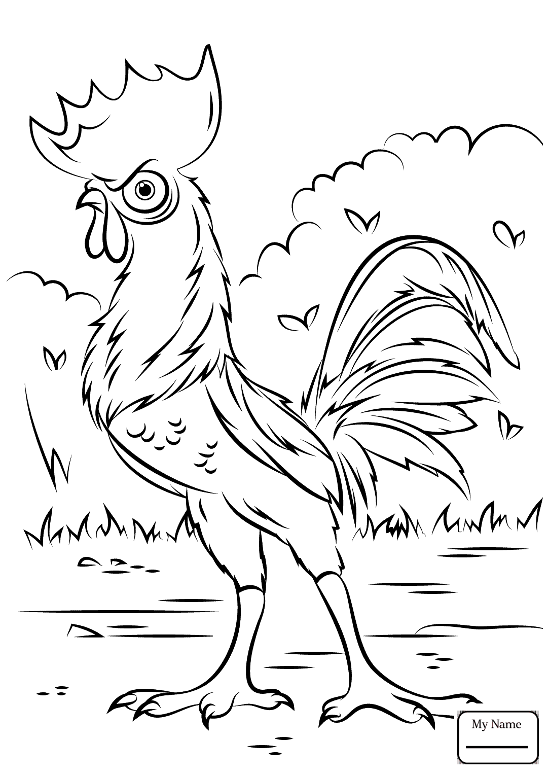 1081x1530 Smartness Ideas Rooster Coloring Page Good Morning Mr Pages Super