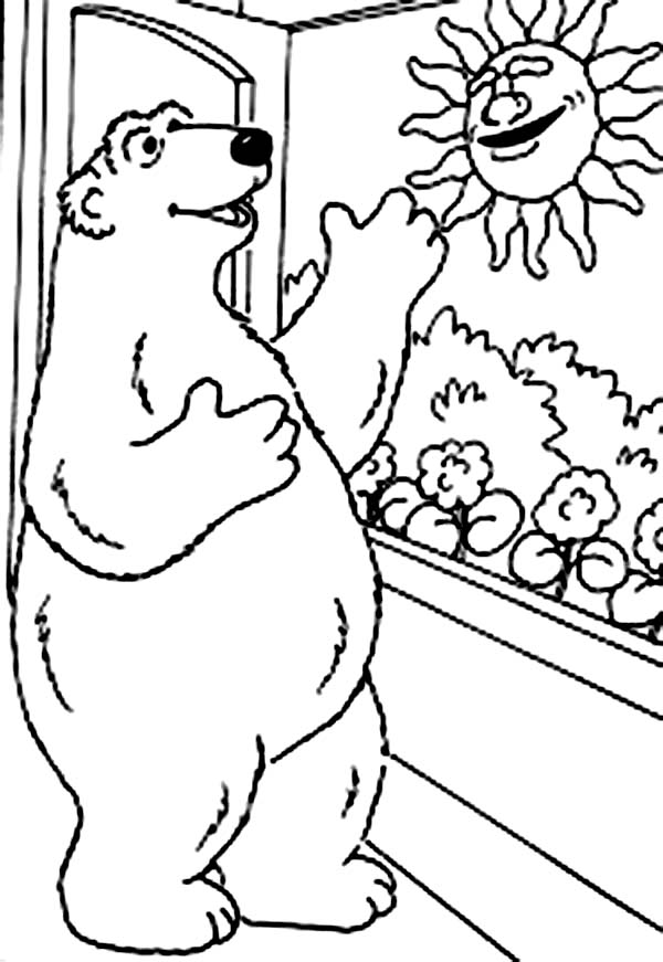 600x871 Bear Inthe Big Blue House Greeting The Morning Sun Coloring Pages