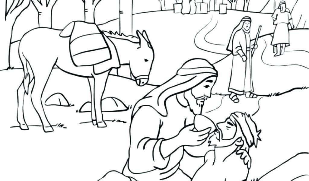 Good Samaritan Coloring Page At Getdrawings Com Free For Personal