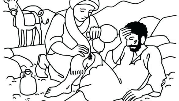 585x329 Good Samaritan Coloring Pages Ng The Good Ng Page Fresh Or Sheet