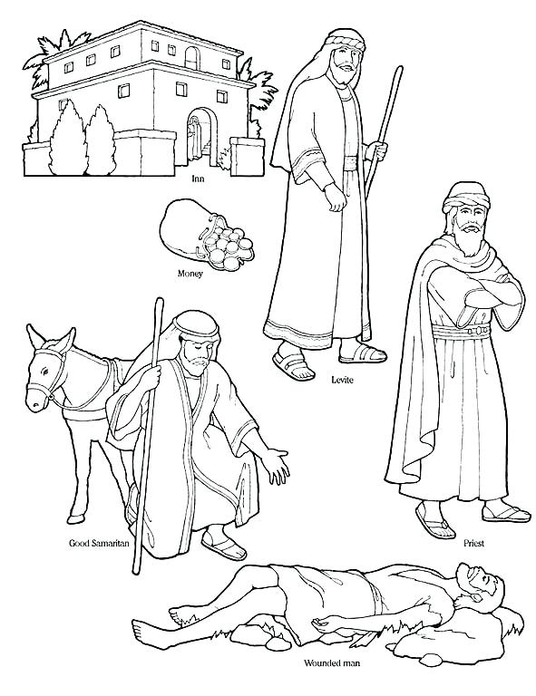 591x768 Good Samaritan Coloring Pages Primary Manual Lesson I Can Be