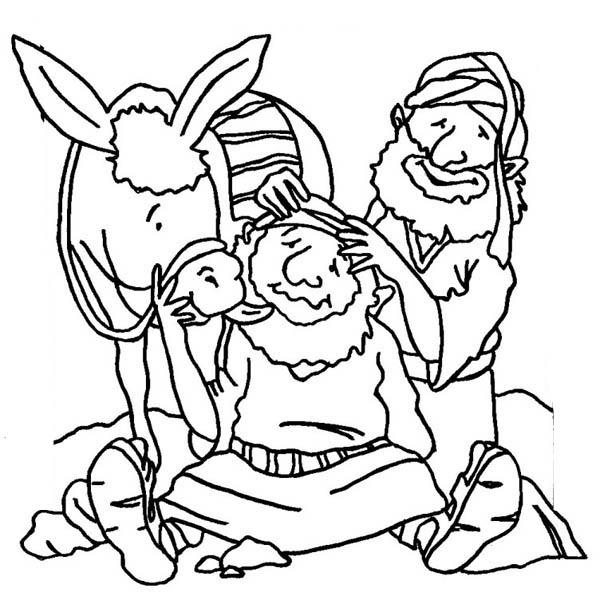 600x600 Good Samaritan Massage Traveller Head Coloring Page