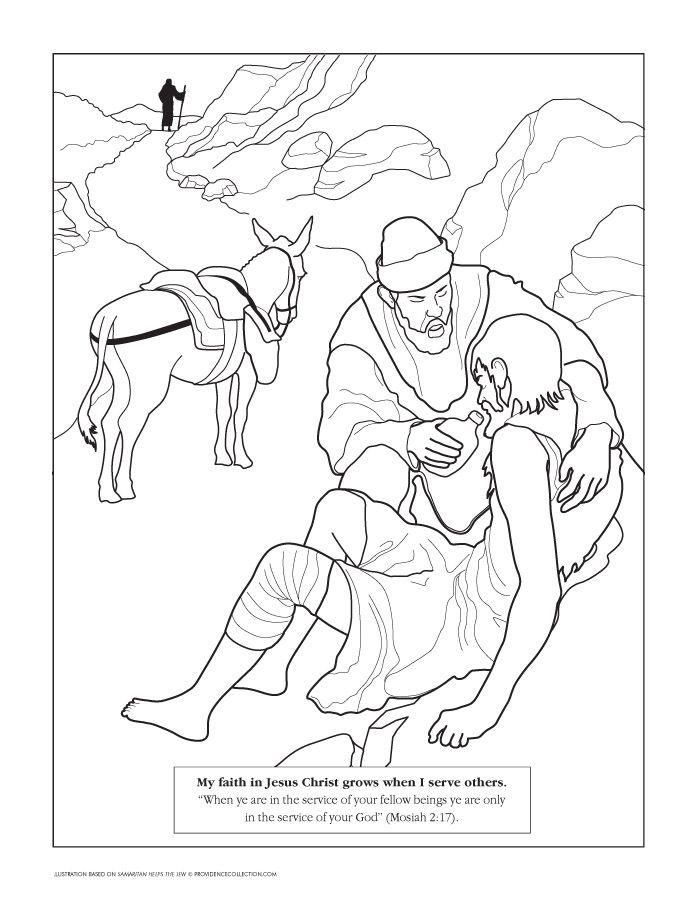 694x902 Good Samaritan Coloring Page