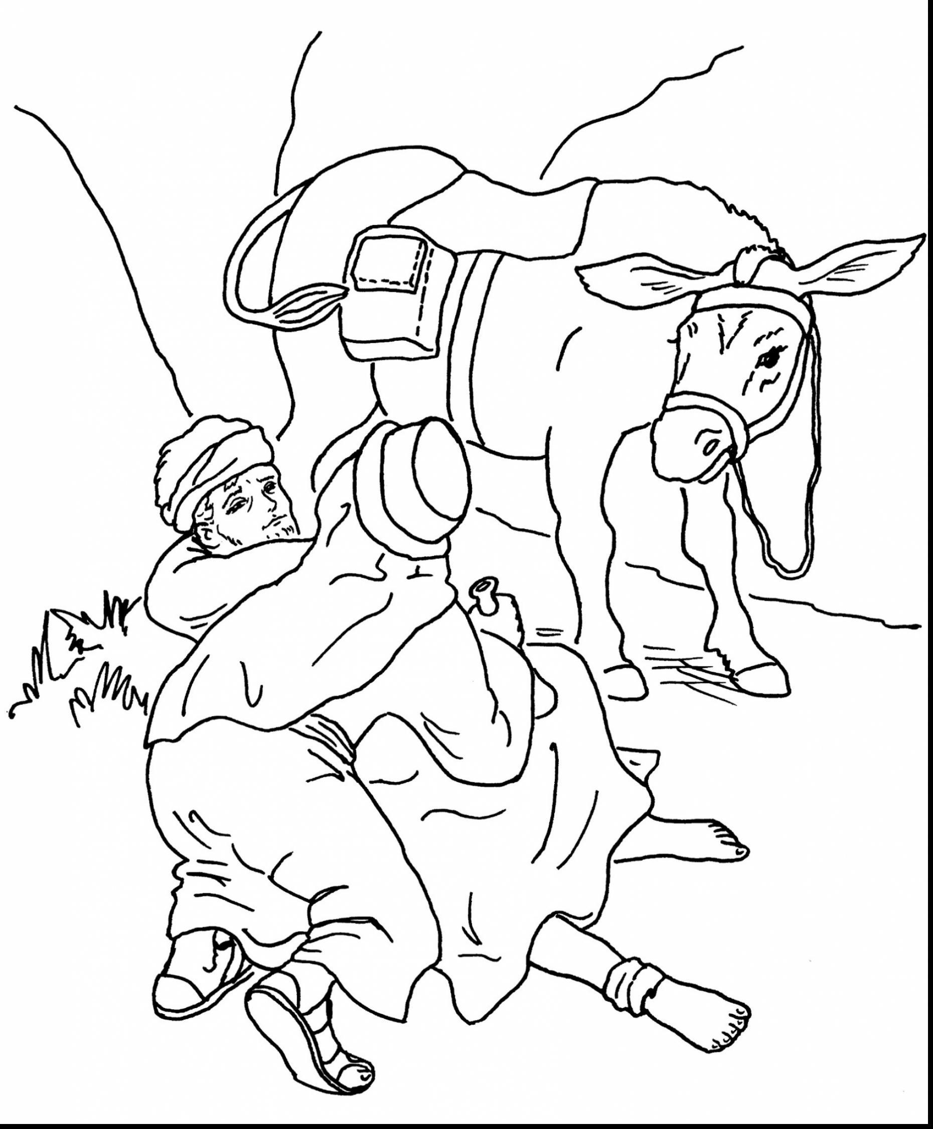 1860x2252 The Good Samaritan Coloring Page
