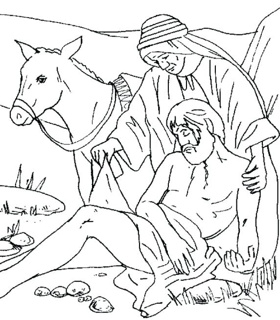 572x654 The Good Samaritan Coloring Page Brilliant The Good Samaritan