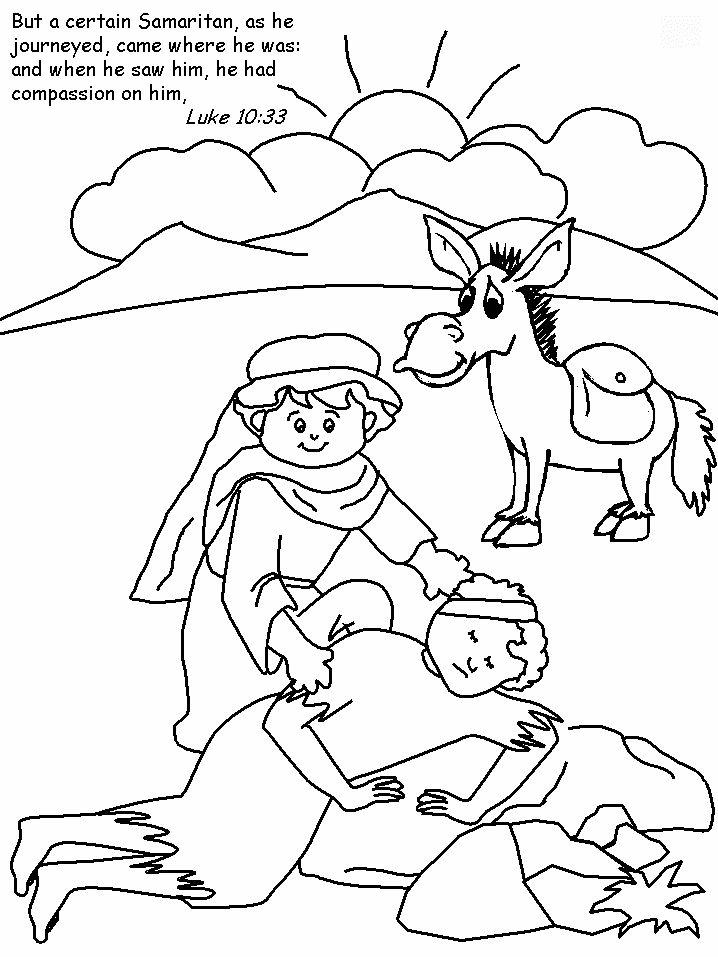 718x957 The Good Samaritan Colouring Sheet Sunday School, Churches And Bible