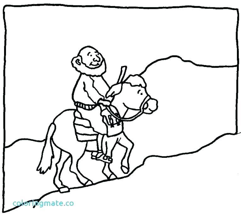 766x703 Good Samaritan Coloring Page