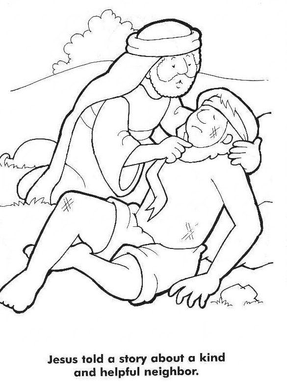 585x780 The Good Samaritan Coloring Page Bible Story Coloring Pages