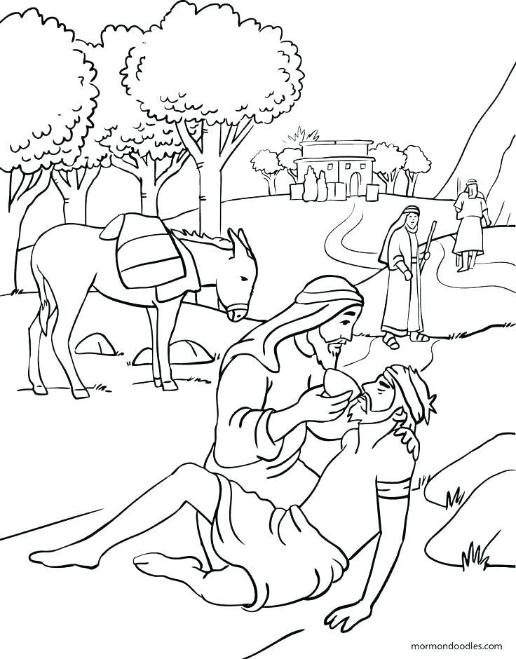 736x940 The Good Samaritan Coloring Pages