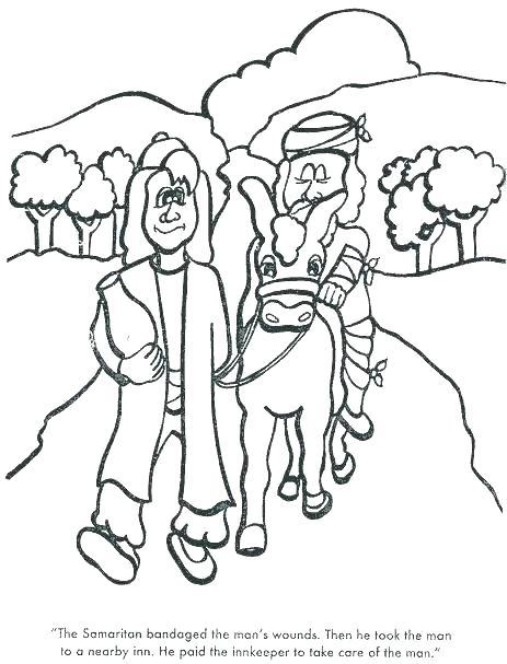 463x607 The Good Samaritan Coloring Pages