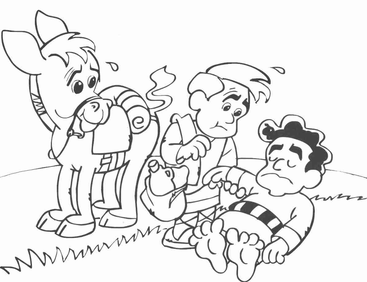 1195x918 Exciting Good Samaritan Coloring Page Parable Of The Also