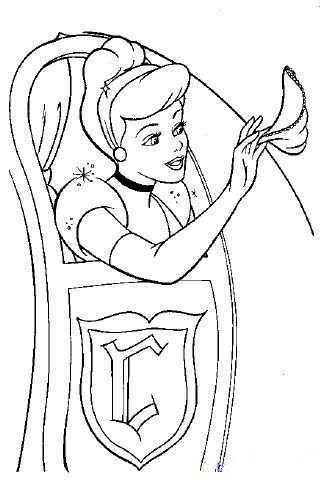 327x480 Cinderella Saying Goodbye Coloring Page Cinderella Pages