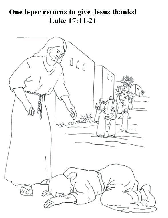 588x762 Jesus Heals Lepers Coloring Page Heals Ten Lepers Coloring Page