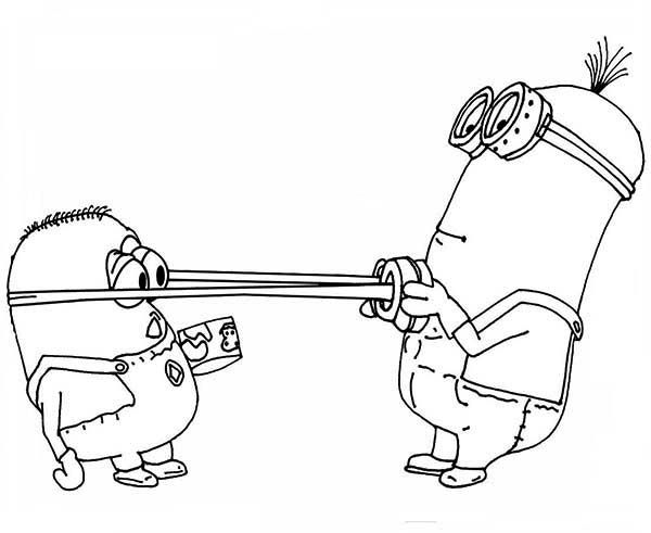 600x491 Phil Pull Dave's Google The Minion Coloring Page Coloring