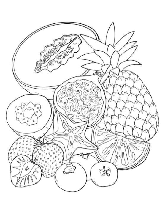 556x720 Adult Coloring Pages Fruit Fruit Adult Coloring Pages Google