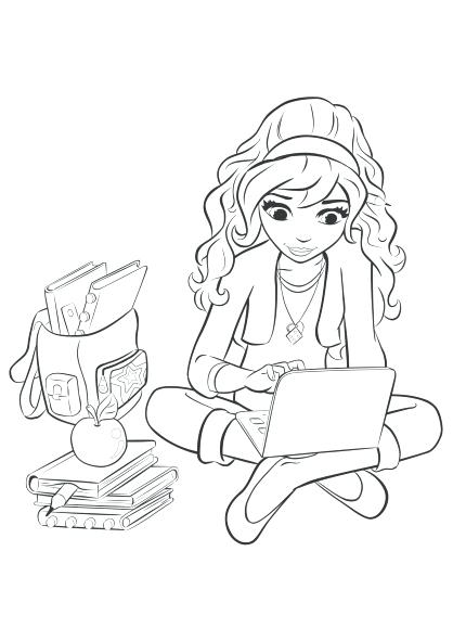 418x591 Friends Coloring Pages Printable Free Google Lego Friends Coloring